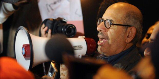 ElBaradei führt Demonstranten an