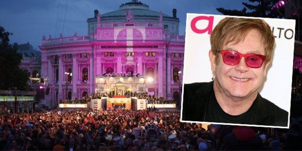 Elton John: Kurzbesuch am Life Ball