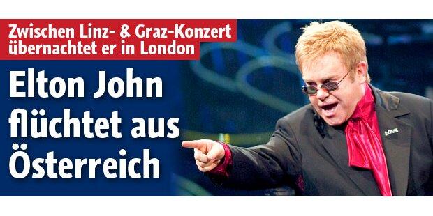 Elton fliegt doppelt auf Österreich