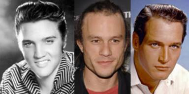 Elvis Presley, Heath Ledger, Paul Newman