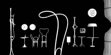 Entwürfe für innovatives Cafe-Interieur