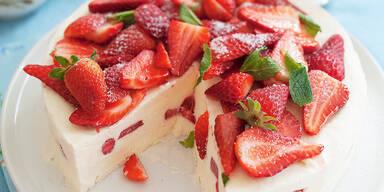 Erdbeer-Kaesekuchen