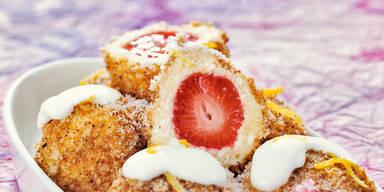 Topfen-Erdbeer-Knoedel