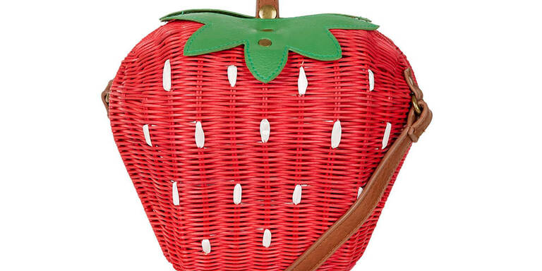 Sommerliche Erdbeer-Tasche