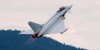 2 Wochen lang  Eurofighter über Salzburg
