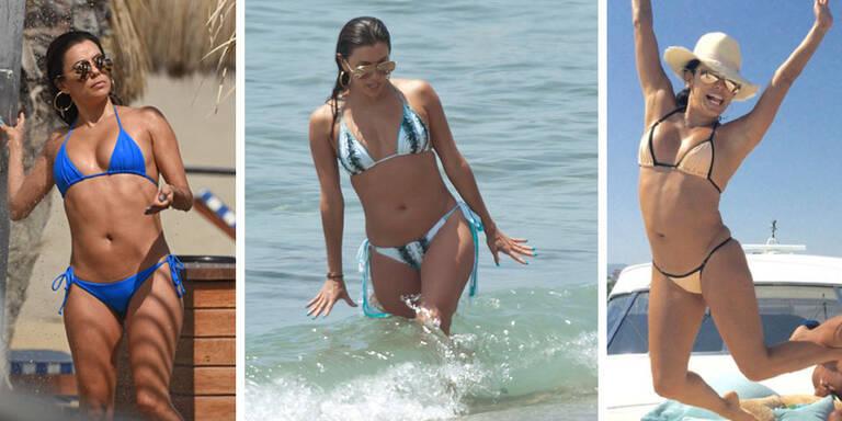 Eva Longorias heiße Bikini-Parade