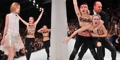 Femen stürmen Catwalk