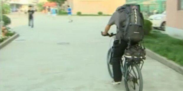 Chinese fährt 5000 km mit dem Fahrrad