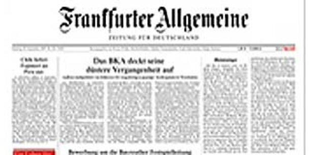 """FAZ"": Weg mit dem Grauschleier"
