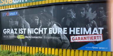 Mega-Wirbel um dieses FPÖ-Wahlplakat