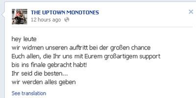 """""""Große Chance"""" Facebook - Posts"""