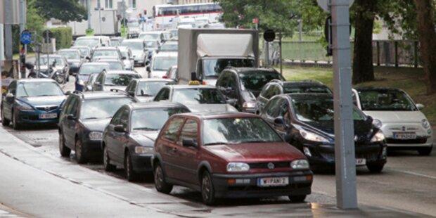 Baustellen Stau Chaos Wien