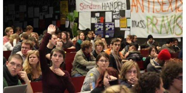 Hörsaal der Uni Linz freiwillig geräumt