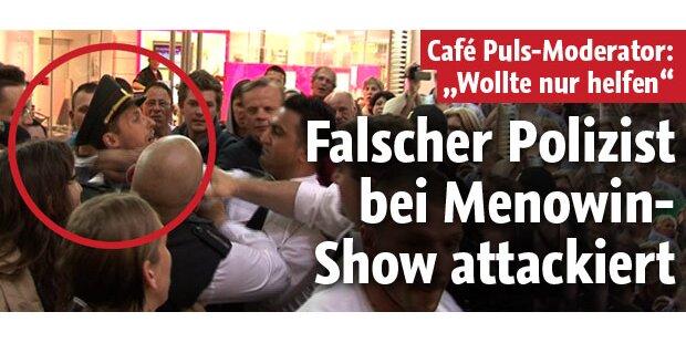 Falscher Polizist bei Menowin Show