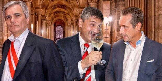 SPÖ und NEOS legen zu, Stronach verliert