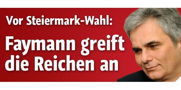 Faymanns Gegenschlag in der Steiermark