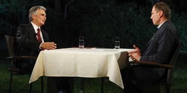 Kanzler und Wolf befetzen sich im TV