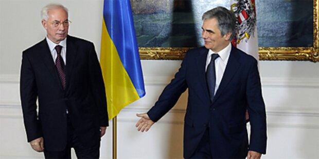 Faymann traf ukrainischen Premier