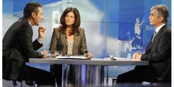 Eine Million sah TV-Duell Faymann – Strache