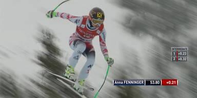 Anna Fenninger landet auf Platz 9