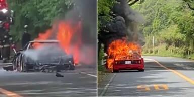 Sündteurer Ferrari ging in Flammen auf