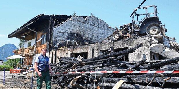 Feuerteufel ruiniert Großfamilie