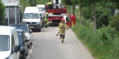 Feuerwehreinsatz in Mistelbach