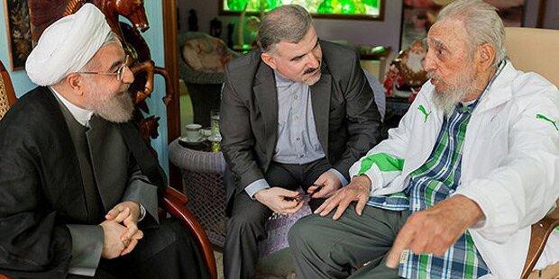 Fidel Castro empfing Präsident Rouhani