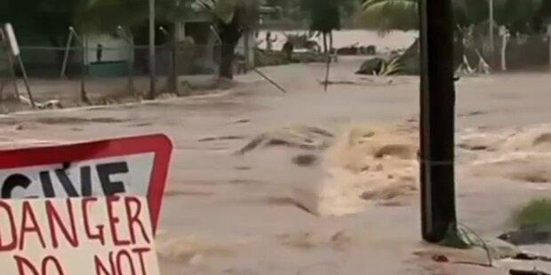 Schweres Hochwasser auf Fidschi-Inseln