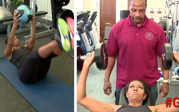 So hart trainiert Michelle Obama!