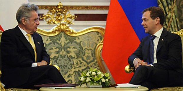 Bundespräsident Fischer trifft Medwedew
