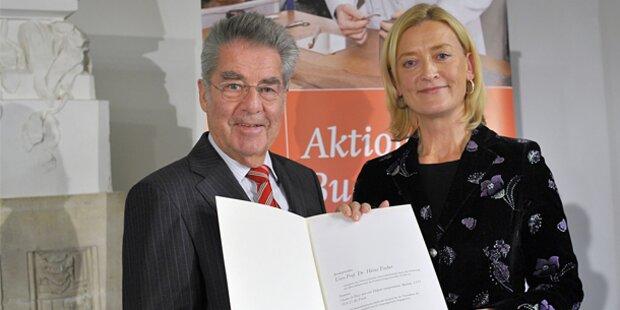 Heinz Fischer ist Buchpate der ÖNB