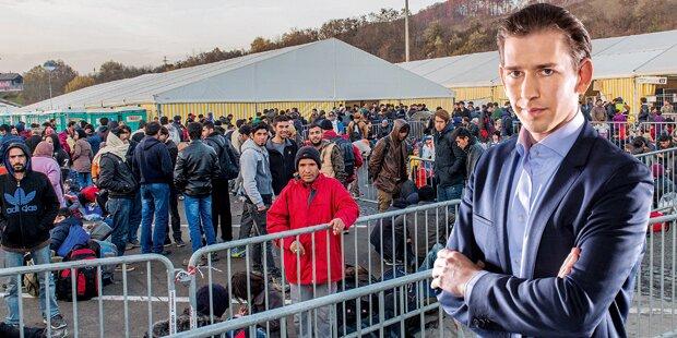Kurz: Polit-Krach um Boots-Flüchtlinge