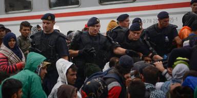Flüchtlinge Polizei Kroatien