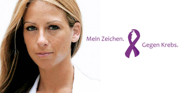 Flashmob gegen Krebs Yvonne Rueff my aid Mein Zeichen. Gegen Krebs