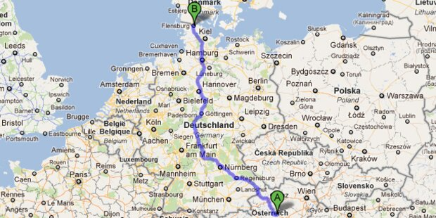 15-Jähriger fuhr 1.200 km mit Papas Auto