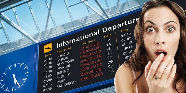 Flug-Verspätungen mehr als verdoppelt