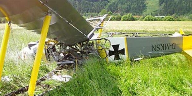 Flugzeugabsturz: Pilot bewusstlos