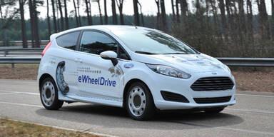 Ford Fiesta mit E-Radnaben-Motoren