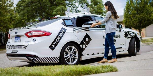 Roboterauto liefert jetzt Pizzas aus