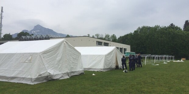 Flüchtlings-Zeltstadt in Salzburg geplant