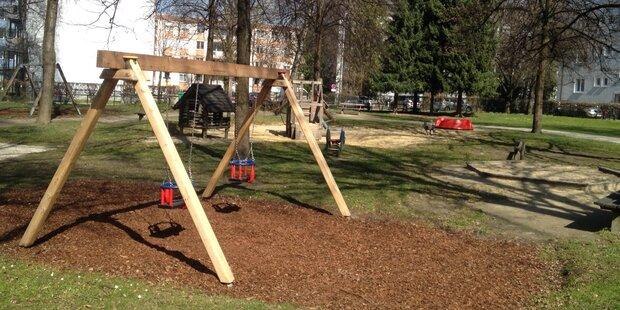 Spielplatz als Unterkunft