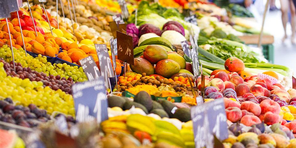 Früchte beim Naschmarkt in Wien