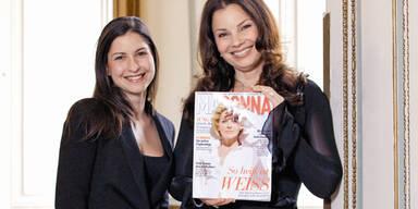 Fran Drescher und MADONNA Redakteurin Nina Fischer