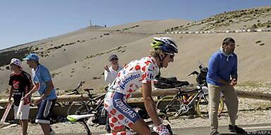 Franco Pellizotti auf dem Mont Ventoux