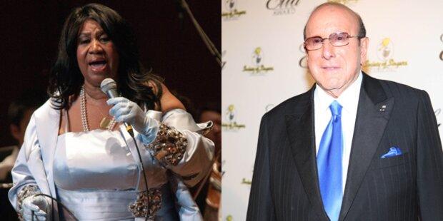 Aretha Franklin arbeitet  mit Clive Davis