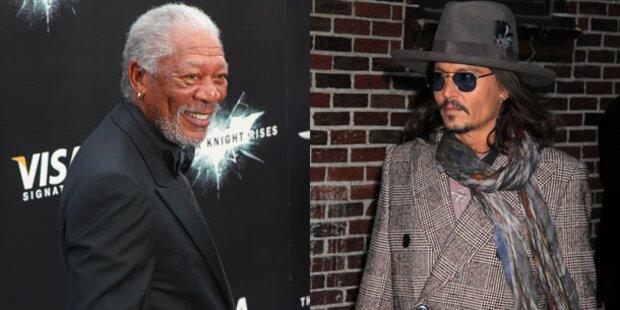 Freeman und Depp drehen Sci-Fi-Film