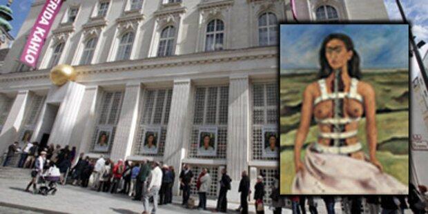 Tausende Besucher: Sturm auf Frida Kahlo