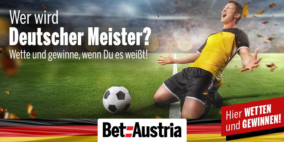 Fussballer Torjubel - Wer wird Deutscher Meister