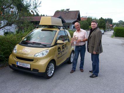 Günther Kogler aus Salzburg mit Torsten Kaffka vom Gold Depot Salzburg